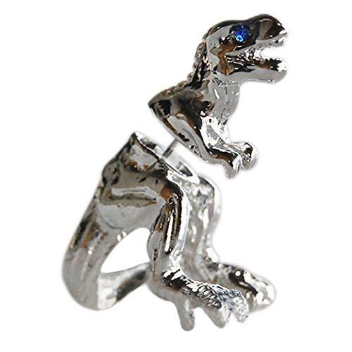 Ameesi 1 Pc Punk Cool Dinosaur T-rex Earring Tyrannosaurus Rex Cute Dragon Ear Stud - Silver