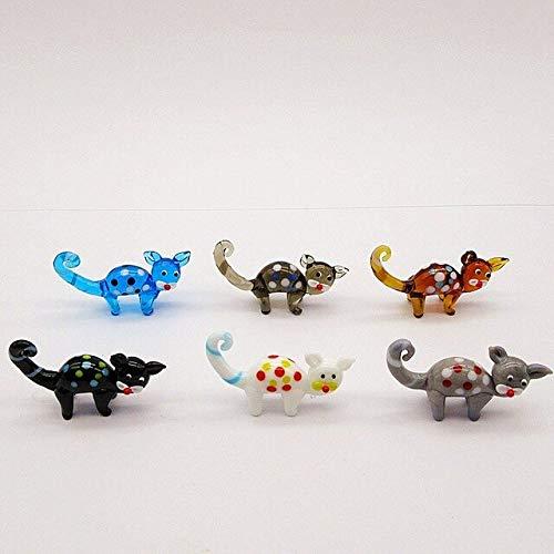 yuandan Símbolo del Año Figuras De Ratón De Cristal De Murano Hechas A Mano Adorno De Navidad Decoración del Hogar Animales En Miniatura Lindos Estatua De Rata De Cristal