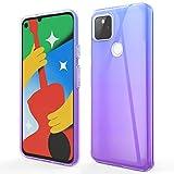 Vinve Schutzhülle für Google Pixel 5, Farbverlauf, TPU, schmal, ultradünn, Gummi, weiches Silikon, Anti-Dropping Handy transparent (lila/blau)