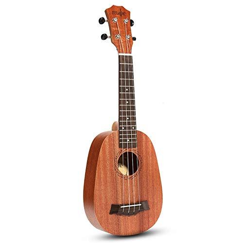 Ukelele Ukelele 21 Pulgadas 4 Cuerdas Ukelele Estilo Piña Caoba Hawaii Uke Bajo Eléctrico Para Instrumentos Musicales Guitarra