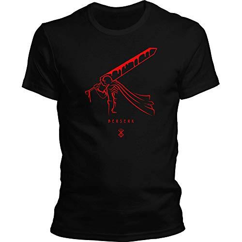 DragonHive Herren T-Shirt Berserk 4 Sword Anime Manga Guts, Größe:M, Farbe:Schwarz