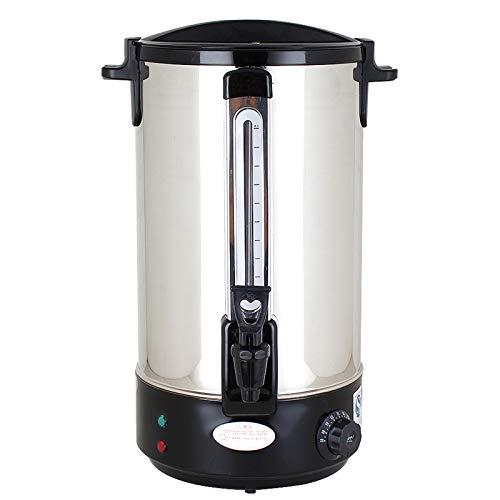 HOUSEHOLD Dispensador de Agua Caliente, Calentador de Vino de Postre, Caldera de Agua eléctrica, Tanque de Comedor con Grifo (30-110 ° C), dispensador de Bebidas de Acero Inoxidable de Doble Capa