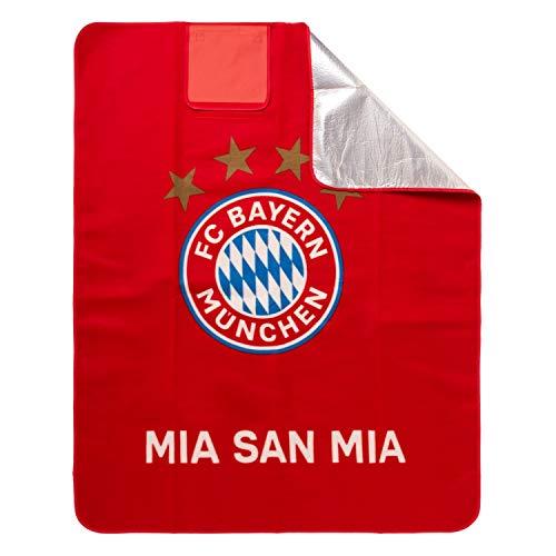 Bayern München Picknickdecke, beschichtete Decke, Stranddecke, Blanket kompatibel FCB - Plus Lesezeichen I Love München