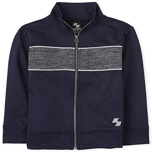 The Children's Place Boys' Mix And Match Performance Track Jacket, Tidal, XL (14)