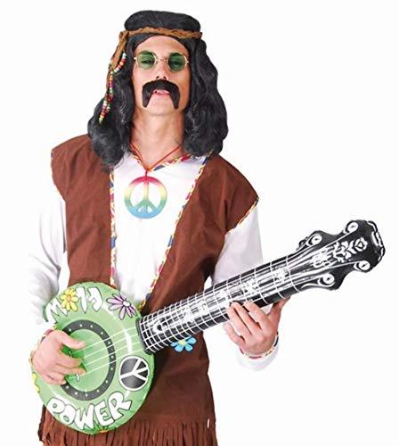 Fiestas Guirca Guitare Gonflable Banjo 60 Ans Fleur Enfant