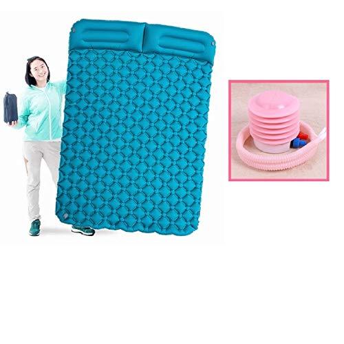 HKVML Colchón Inflable Cojín para Carpa Colchonetas de Aire para Acampar Al Aire Libre 2 Personas Picnic Beach Mat Cojín para bebé Reposo en casa Suave A Prueba de Humedad, 3, Tipo Dos Personas