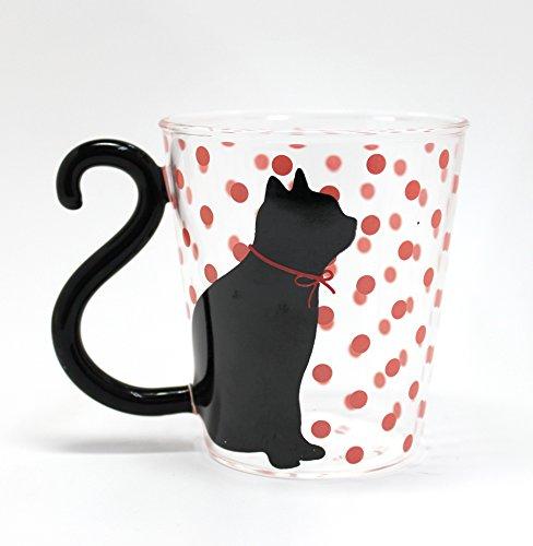 Tasse en Verre Neko Dot Art et Design du Japon (Rose)