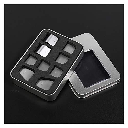 ZHIXIANG Coche Resistente al Parche Decorativo Resistente al Ajuste para el botón de elevación de la Ventana ABS Patch Fit para Tesla Model3 2017-2020 Protección de Botones (Color Name : M3 DE42L)
