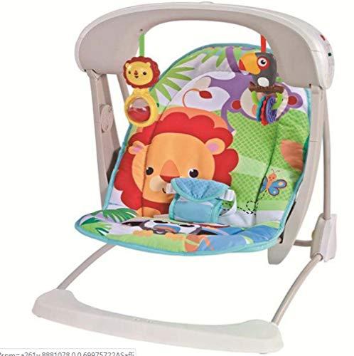 ZWQ kids Rainforest Friends Rocker du Nouveau-né au Bambin, videur du Nouveau-né et Utilisation comme Chaise de bébé, adapté à la Naissance,E