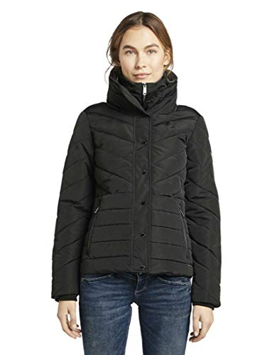 TOM TAILOR Damen Jacken Feminine Pufferjacke Deep Black,M
