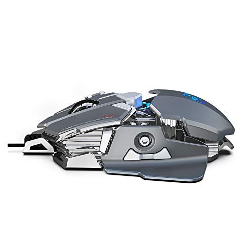 Six6 Gaming Mouse RGB, USB-Computer 6400 DPI Ergonomische Maus, geeignete Fenster/PC/Laptop-Gamer