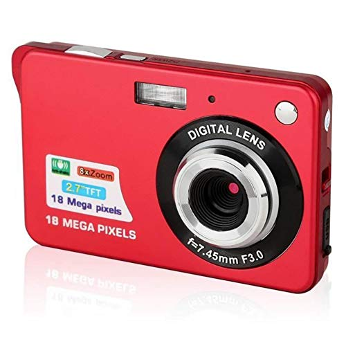 Deeabo Cámara digital LCD de 2.7 pulgadas HD, K09 Cámara digital de 18 megapíxeles con zoom 8X Cámara compacta mini cámara digital Cámaras de bolsillo
