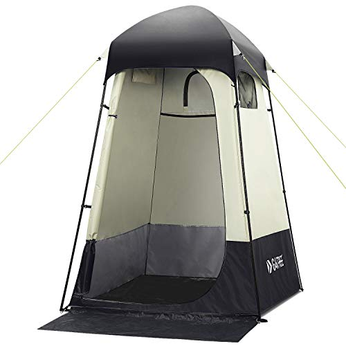 G4Free Large Camping Privacy Shelter Tent, Portable Outdoor Easy Set Up Shower Tent Dressing Changing Room with Carry Bag, Camp Toilet (Black)