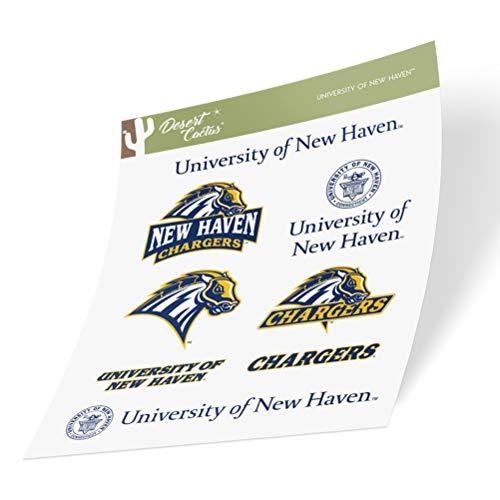 University of New Haven UNH Chargers NCAA Sticker Vinyl Decal Laptop Water Bottle Car Scrapbook (Type 2 Sheet)