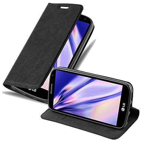 Cadorabo Hülle für LG G2 Mini in Nacht SCHWARZ - Handyhülle mit Magnetverschluss, Standfunktion & Kartenfach - Hülle Cover Schutzhülle Etui Tasche Book Klapp Style