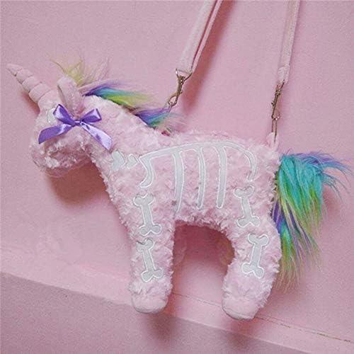 Stuffed.Animals 2021 Dark Punk Unicorn New item Backpack Gothic Plus Rock Pink