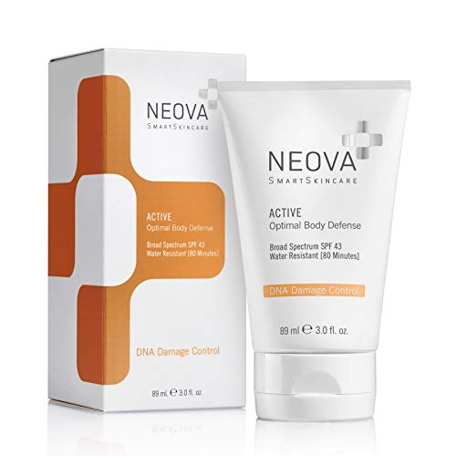 NEOVA SmartSkincare Active Broad Spectrum Sunscreen SPF 43 Defends against UVA/UVB Rays - Water...