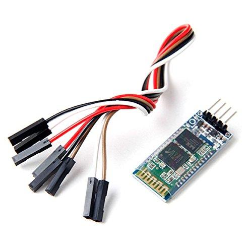 Aukru HC-06 Drahtlose 4 Pins Bluetooth RF Transceiver Serial Modul mit 4 set kabel für Arduino
