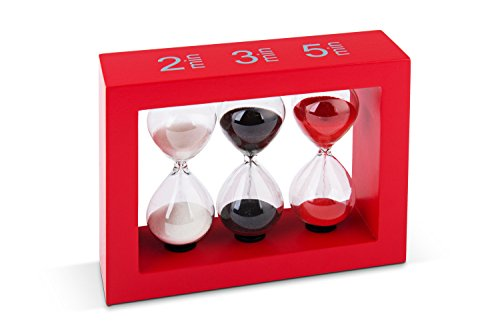Tea-Timer Teatimer Sanduhr 2/3/5 Minuten karminrot