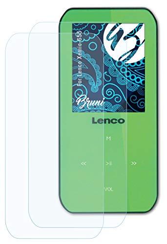 BRUNI 화면 보호기 호환 LENCO XEMIO-655 보호 필름 크리스탈 클리어 보호 필름(배)