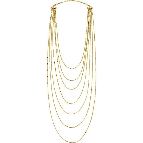 Gioiello BREIL collezione SINUOUS, COLLANA da DONNA in ACCIAIO COLORATO colore GOLD misura 50CM - TJ3016