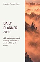 Daily Planner 2036; Sales are contingent upon the attitude of the salesman -- not the attitude of the prospect.: Calendar 2036 Perfect Pocket sized A5 ... steps and Goals (Weekly Planner with 4-WEEK