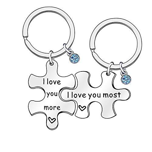 2 llaveros para Parejas de San Valentín, para Marido, Esposa, Novio,