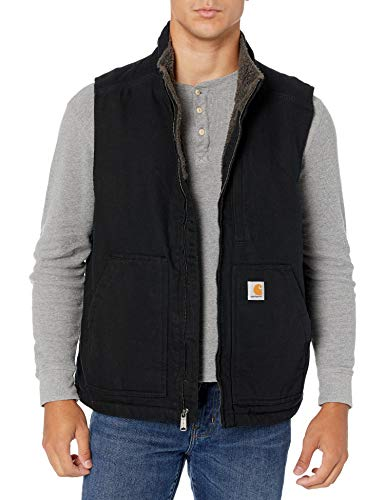 Carhartt Winter Weste Mock-Neck mit warmen Sherpafutter, Farbe:schwarz, Größe:XL