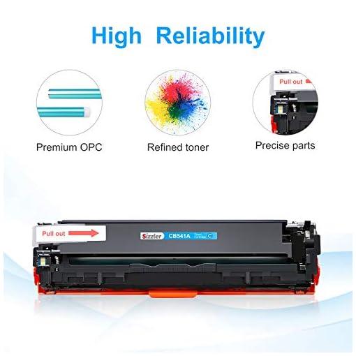 Sizzler Compatible HP 125A Cartucho de tóner CB540A CB541A CB542A CB543A para HP Color LaserJet CM1312 CM1312 mfp… 7