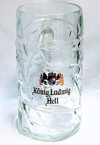 König Ludwig - Jarra de cerveza (1 L, cristal), color claro