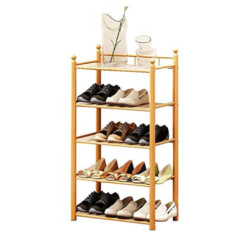 Busirsiz Zapato Estante de Madera apilable de 4 Niveles Moderno Pasillo Gabinete de Almacenamiento Almacenamiento Estantes Organizador Simple de bambú con Polvo Pad