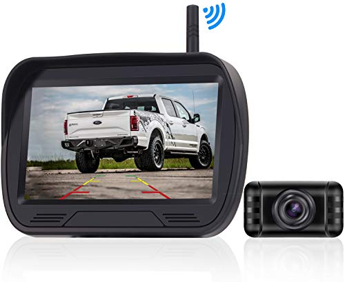 Rohent 720P HD Digital Wireless Backup Camera,Hitch Rear View Camera with 4.3''Monitor Kit for Cars, Pickups,Trucks,Small RVs Adjust Front/Rear View with Super Night Vision Camera IP69K Waterproof