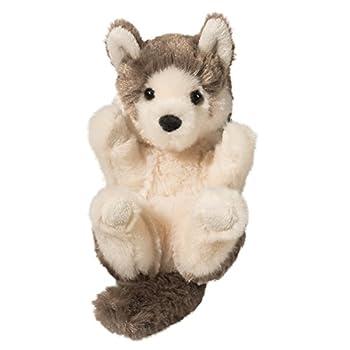 Douglas Gray Wolf Lil  Handful Plush Stuffed Animal