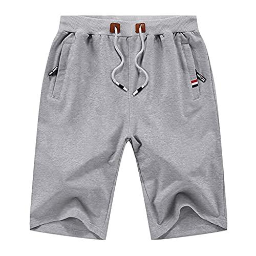 Pantalones Cortos para Hombres Casual Classic Fit Drawstring Summer Beach Shorts XXL