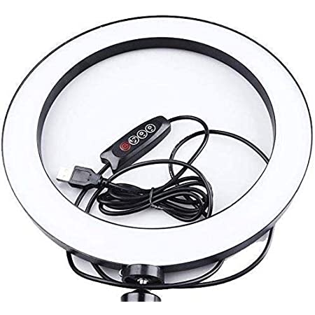 Ring Light Pack of 2 with Stand with Bag Portable LED Ring Light with 3 Color Modes Dimmable Lighting Photo-Shoot | Video Shoot | Live Stream | Makeup & Vlogging compatibly for All mobiles