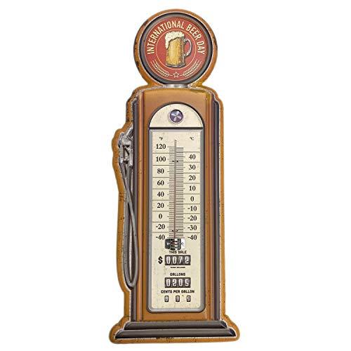 【USA アメリカン デザイン】BEER 温度計 GAS STATION ガレージ カフェ レストラン サインボード アンティーク ビンテージ バイカー インテリア 看板 ; AVTM-003