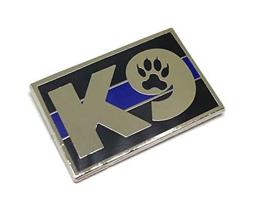 K9 Thin Blue Line Kennel American Officer Flag Enamel Lapel Pin