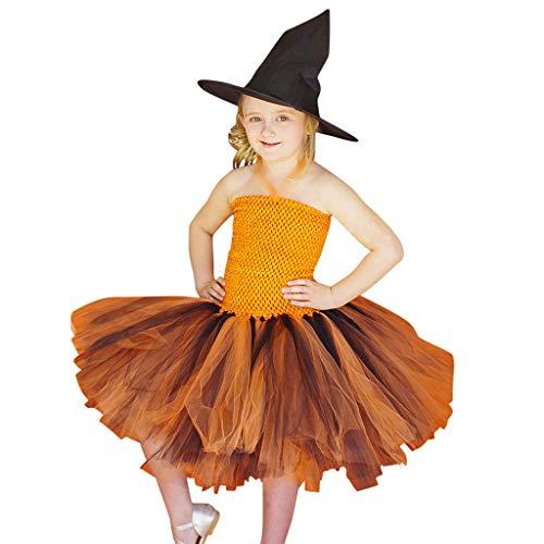 Frashing Baby Kinder Mädchen Kleid Halloween Karneval Kostüm Partykleid für Kinder Tüll Festlich Kleid Prinzessin Kostüm für Mädchen Kleid Karneval Cosplay Fasching Outfits Babykleider 1-12 Jahre