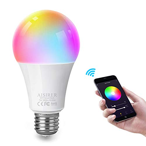 Smart Home LED Leuchtmittel A60 E27 RGB Matt 9W WIFI Alexa Google Home Echo Wifi