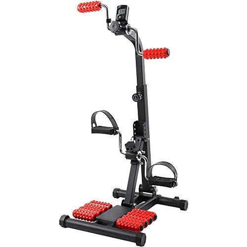 WAWZNN Bicicleta de Ejercicio Engranajes de Masaje para Ejercicios de recuperación con Resistencia Ajustable y Pantalla LCD Ciclismo Indoor Cardio para Entrenamiento en casa