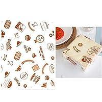 MAODING 50pcs / lotはワックスペーパー食品グレードグリース紙パンバーガーフライドポテトラッパークッキーOilpaper 3メートル (Color : Coffee)