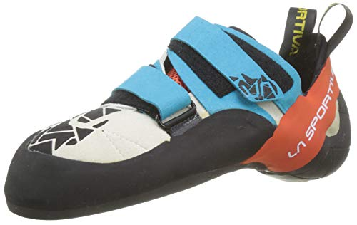 La Sportiva Otaki, Zapatos de Escalada Hombre, Multicolor (Blue/Flame 000), 39 EU