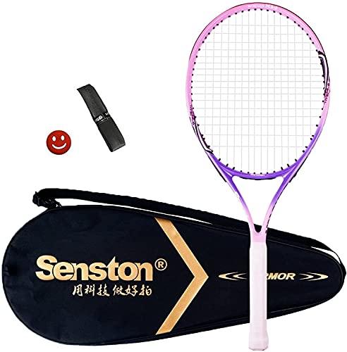 Senston Raqueta de Tenis 19 23 25,One-Piece-Desgin Raqueta Tenis, Incluido 1 Bolsa de Tenis   1 Grip   1 Amortiguadores
