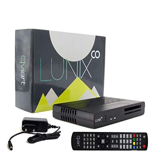 Preisvergleich Produktbild Qviart Lunix Co Full HD 1080p E2 Linux Receiver mit DVB-S2 / T2 / C Tuner,  CI,  IPTV,  Karteleser,  Schwarz