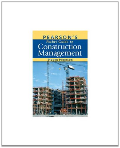 Pearson's Pocket Guide to Construction Management