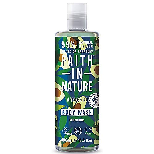 Faith in Nature Avocado Body Wash, Nourishing Vegan and Cruelty Free, Parabens and SLS Free, 400ml