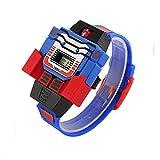 Enfants Montre numérique garçons Filles Enfants LED Montre Transformers Bumblebee Cartoon Sports Robot Montre-Bracelet