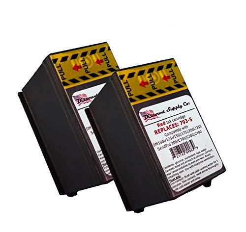 2-Pack Compatibe 793-5 Red Ink Cartridge for P700, DM100i, DM125i, DM150i, DM175i, DM200L, DM225 Postage Meters