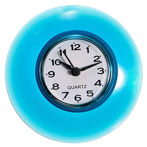 ROUHO Badezimmer wasserdicht Wanduhr Resistent Timer Saugnapf - Blue