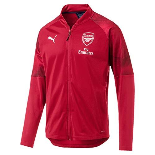 PUMA Herren Arsenal FC Stadium mit zipped pockets Trainingsjacke Arsenal FC Stadium mit zipped pockets, Rot (Chili Pepper-Peacoat), M (Herstellergröße: M)